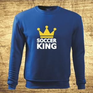 Mikina s motívom Soccer king