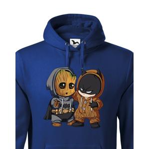 Pánska mikina Batman a Groot - ideálna pre každého fanúšika