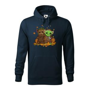 Pánska mikina Mistr Yoda a Groot - ideálna pre každého fanúšika