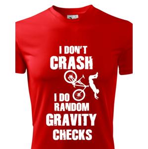 Pánske MTB tričko pre cyklistov RANDOM GRAVITY CHECKS