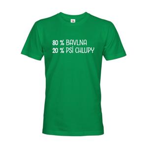 Pánské tričko -80 % bavlna, 20 % psie chlpy