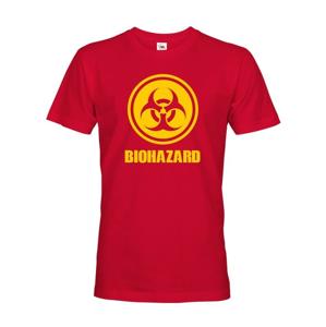 Pánske tričko Biohazard - ideálny pre Geekov a hráčov počítačových hier