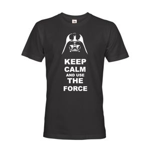 Pánské tričko Keep calm and use the force - triko s potiskem Star Wars