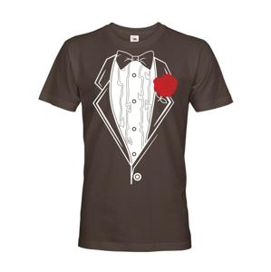 Pánske tričko na rozlúčkovú párty s potlačou fraku - možná úprava na mieru