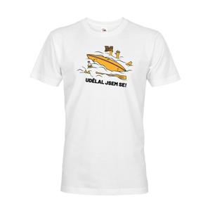 Pánske tričko na vodu Urobil som sa - dotlač mena alebo tímu