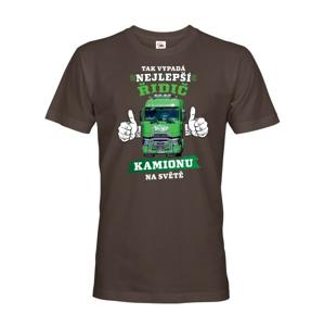 Pánské tričko Najlepší vodič kamiónu  - možnosť doplniť vlastný kamión