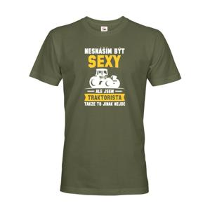 Pánské tričko - Neznášam byť sexy, ale som traktorista