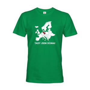 Pánske tričko pre cestovateľov Tu som doma - s mapou Európy