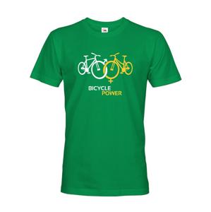 Pánske tričko pre cyklistov Bicycle Power - ideálny darček pre každého cyklo nadšenca