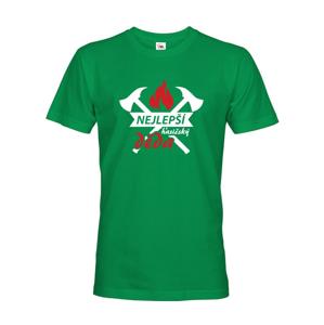 Pánske tričko pre hasičov Najlepší hasičský dedko