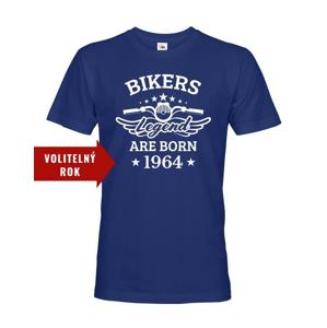 Pánske tričko pre motorkárov k narodeninám Bikers Legend Are Born