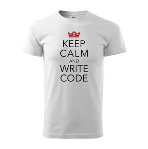 Pánske tričko pre programátorov Keep calm and write code s dopravou len za 2,23 Euro