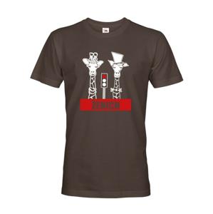Pánske tričko pre ženícha s žirafami na rozlúčku so slobodou