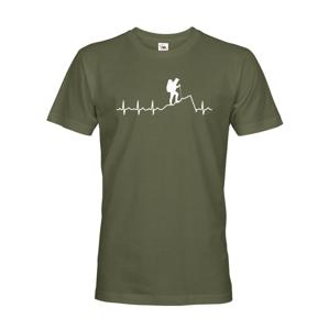 Pánske tričko Pulz turistu - ideálne turistické tričko