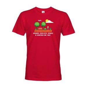 Pánské tričko - Raz som bol vonku a grafika nič moc - ideálny darček pre grafikov