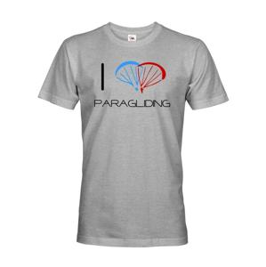 Pánské tričko s motivem I love paragliding