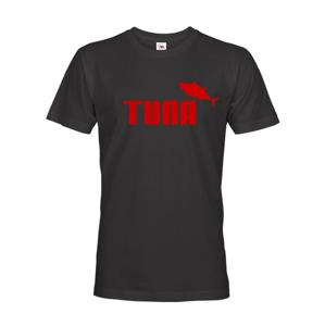 Pánské  tričko s potiskem Tuna - parodie značky Puma