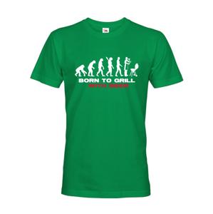 Pánske tričko s potlačou Narodený pre grilovanie - tričko ocení každý majster grilu