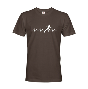 Pánske tričko s potlačou pre bežcov Tep šprintéra