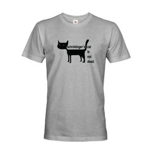 Pánské tričko Schrodinger´s cat is not dead - vtipné tričko pro chemiky