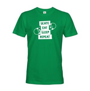 Pánské tričko Skate-eat-sleep-repeat - ideálny darček