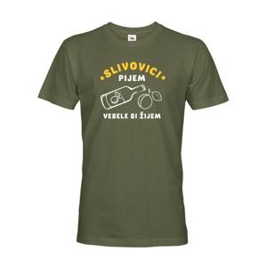 Pánské tričko Slivovici pijem, vesele si žijem