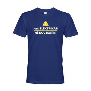 Pánske tričko Som elektrikár, nié kúzelník! - ideálny darček k narodeninám