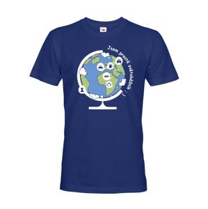 Pánske tričko Som jednoducho svetobežník - skvelý darček pre všetkých turistov