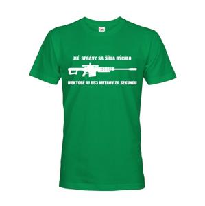 Pánske tričko Zlé správy sa šíria rýchlo pre military a army nadšencov