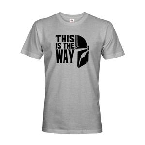 Pánske tričko zo seriálu Mandalorian - This is The Way