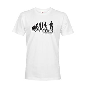 Pánské triko pro hasiče Evoluce - skvělý dárek k narozeninám