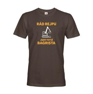 Pánské triko s potiskem pro bagristu - ideální dárek