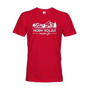 Pánske turistické tričko Hory volajú, musím ísť