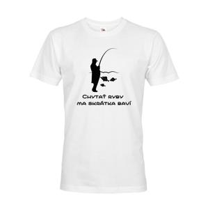 Rybárske tričko Chytať ryby ma skrátka baví si zamilujete