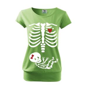 Tričko pre budúce mamičky Kostrička dievčatko