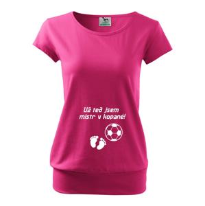 Tričko pre tehotné Už teraz som majster vo futbale