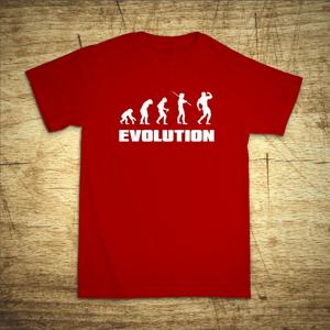 Tričko s motivem Evolution bodybuilding