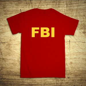 Pánské tričko s motívom FBI