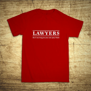 Tričko s motívom Lawyers