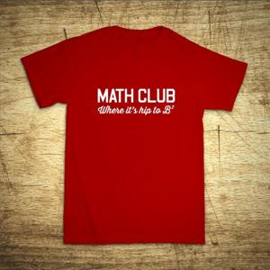 Tričko s motívom Math club