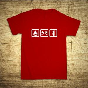 Tričko s motívom Požiarnik