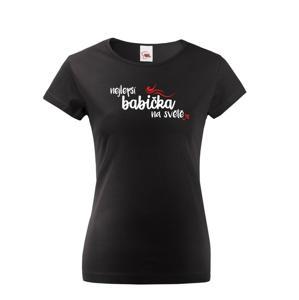 Tričko s potlačou pre babičku - Najlepšia babička na svete