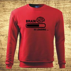 Vtipná mikina s potlačou Brain loading