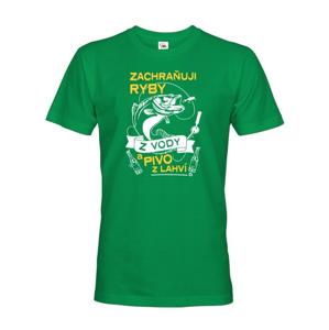Vtipné rybárske tričko Zachraňujem ryby z vody - darček k narodeninám